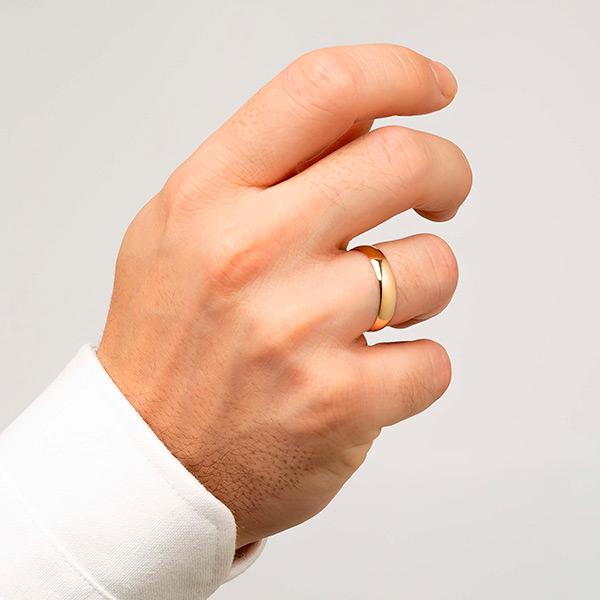 Joyería online alianza de boda Artíes puesta hombre