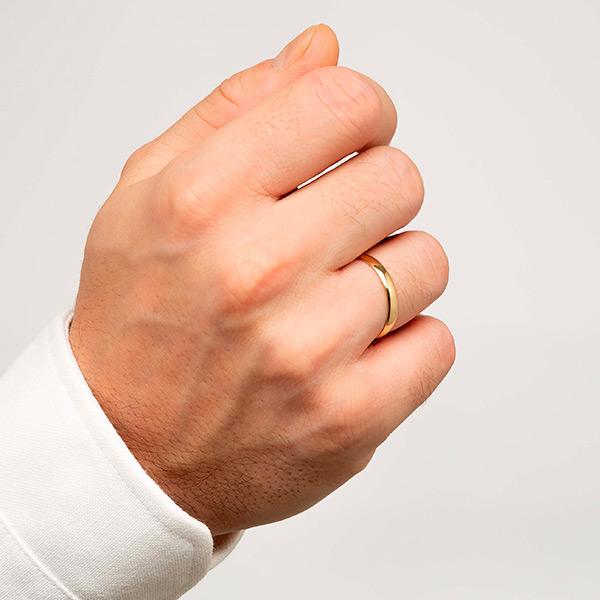 Joyería online alianza de boda Tradición puesta hombre