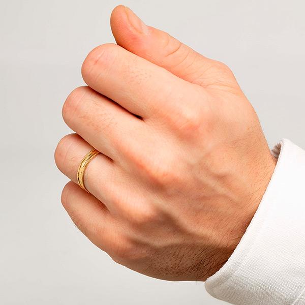 Joyería online alianza de boda Colin puesta hombre