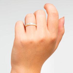 Joyería online alianza de boda Duo puesta mujer