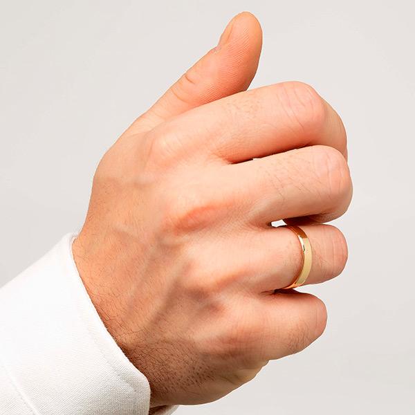 Joyería online alianza de boda Eli puesta hombre