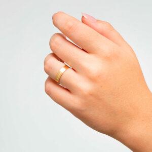 Joyería online alianza de boda Esfera puesta mujer