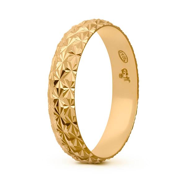 Joyería online alianza de boda Line Star Gold