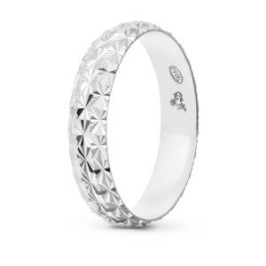 Joyería online alianza de boda Line Star White