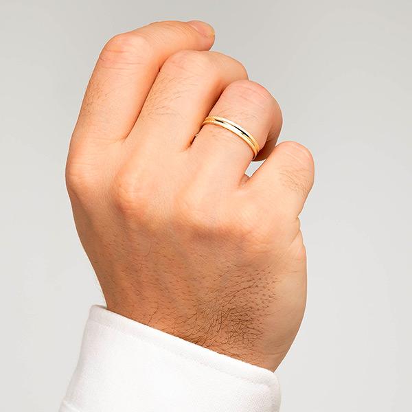 Joyería online alianza de boda Seilor puesta hombre