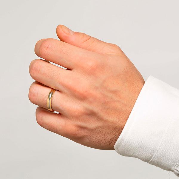 Joyería online alianza de boda Sensación puesta hombre