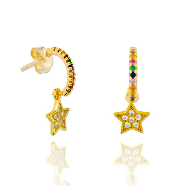 Pendientes oro New York Estrella