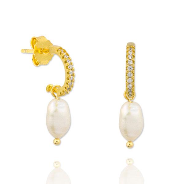 Pendientes oro Budapest perla