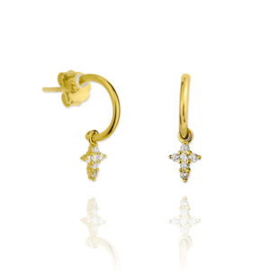Pendientes oro attraction Dogma Design
