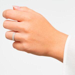Alianzas de boda en plata de ley