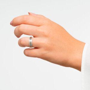 Alianzas de boda en plata de ley brillo