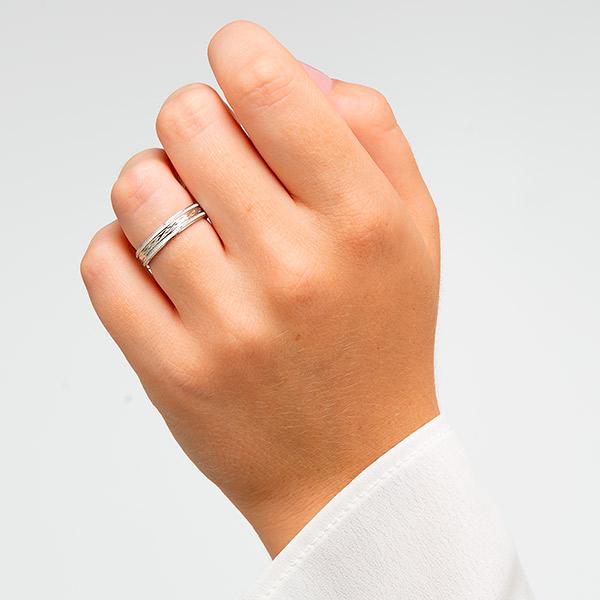 Alianzas de boda plata talladas