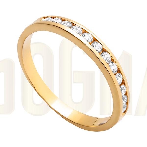 Anillo de oro y circonitas Dogma Design