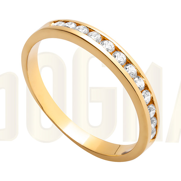 Anillo de oro y circonitas anillo de compromiso