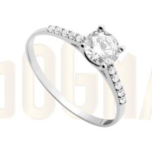 Anillo oro blanco Esfinge anillo de compromiso