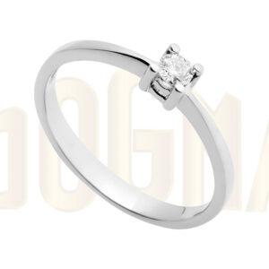 Anillo oro blanco Retro Anillo de compromiso solitario de diamante