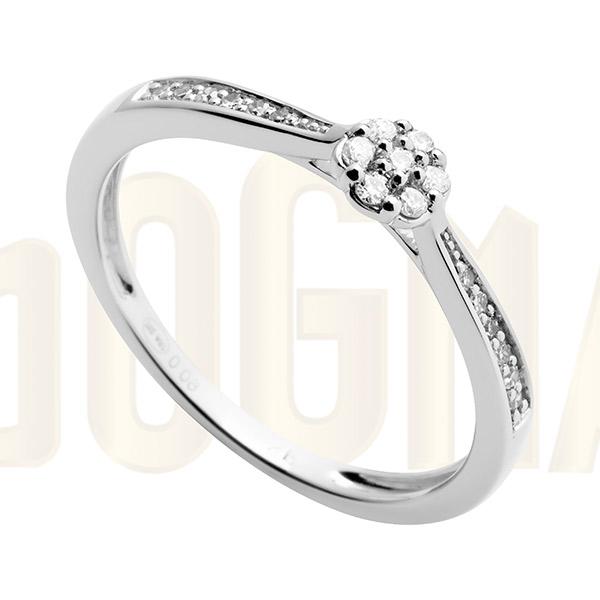 Anillo oro blanco y diamantes Lario Dogma Design