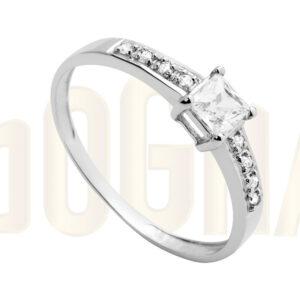 Anillos oro blanco Stilum anillo de compromiso