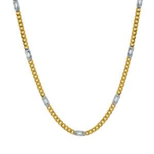 Cadena de oro bicolor