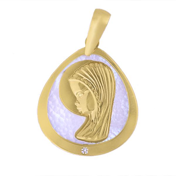 Medalla de oro virgen niña