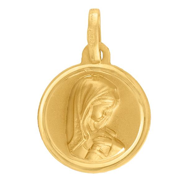 Medalla de oro virgen niña - comprar joya primera comunión