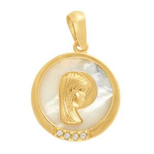 Medalla de oro virgen niña - regalos de comunión