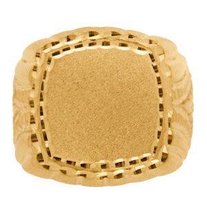 sello de oro grande cuadrado