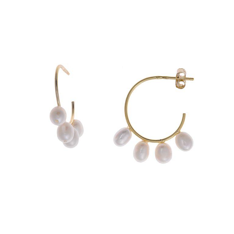 Pendientes de plata perla