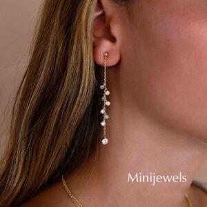 Pendientes de plata Madeleine modelo