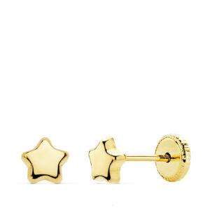 Pendientes de oro estrella para bebé