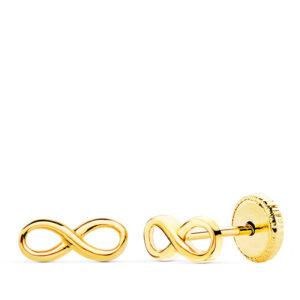 Pendientes de oro niña infinito
