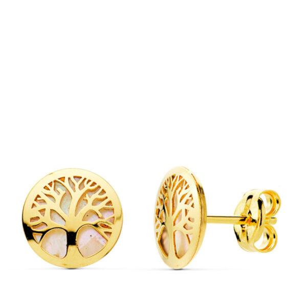 Pendientes de oro Arbol de la Vida