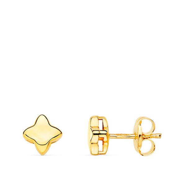Pendientes de oro niña estrella