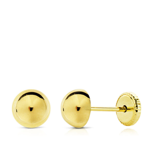 Pendientes de oro niña media bola