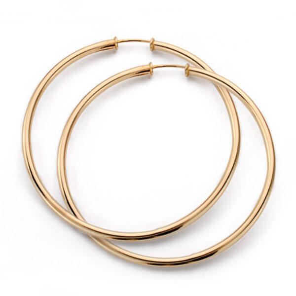 aros de tubo en oro 65x2mm