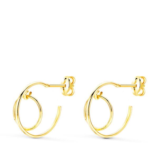 aros en oro abiertos diseño
