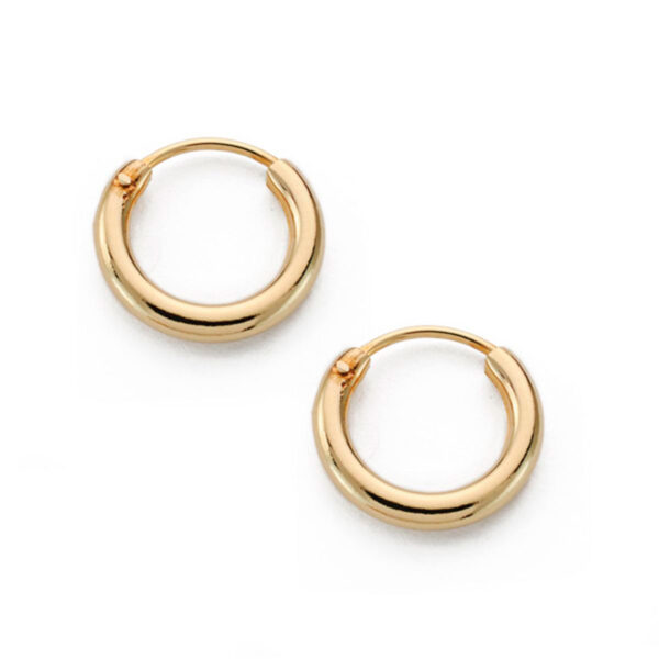aros de tubo en oro 13x2mm