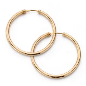 aros de tubo en oro 30x2mm