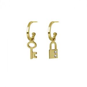 pendientes-llave-y-candado-crystal-oro