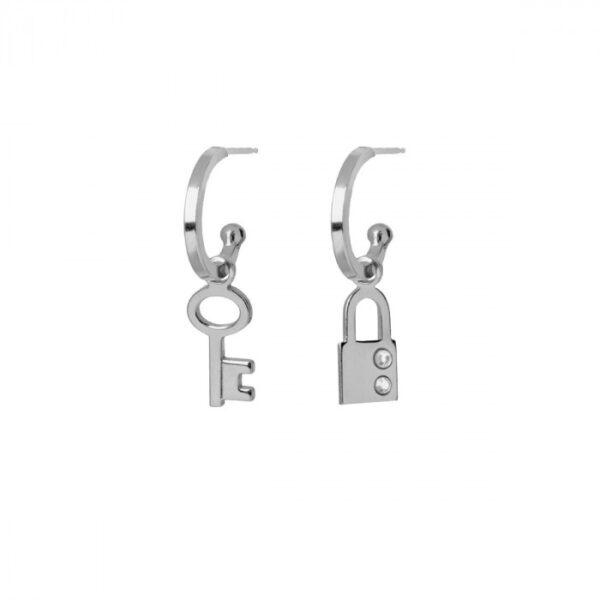 pendientes-llave-y-candado-crystal-plata