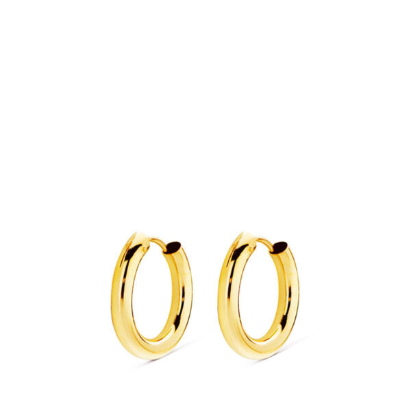 aros de tubo en oro 12x2mm