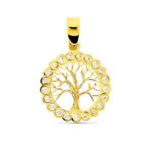 Colgante de oro árbol de la vida