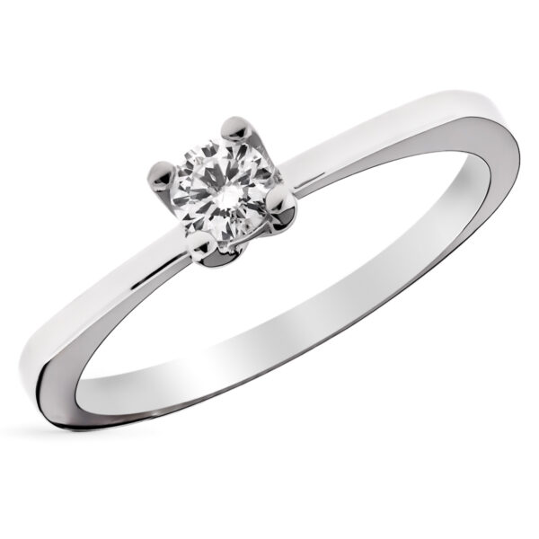 solitario diamante oro anillo de pedida
