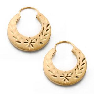 pendientes criollas talladas en oro