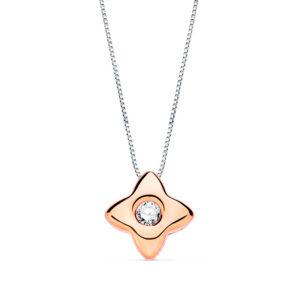 gargantilla de diamante en oro rosa
