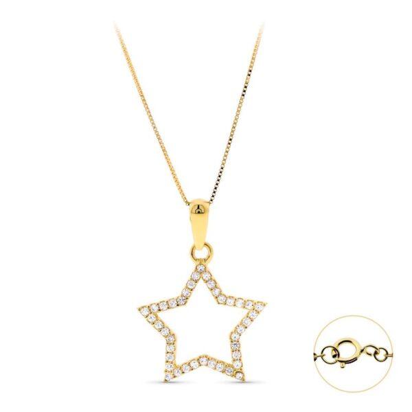 gargantilla de oro estrella