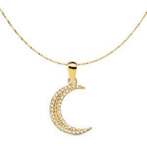 gargantilla de oro luna