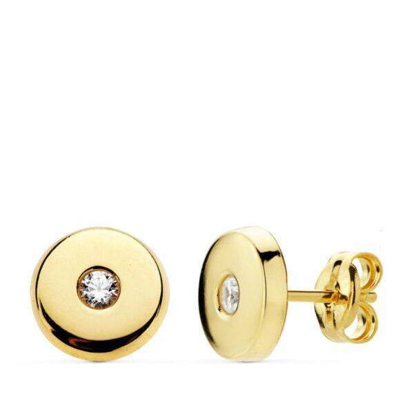 pendientes de oro y circonitas