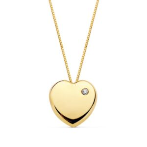 gargantilla de oro colgante corazón