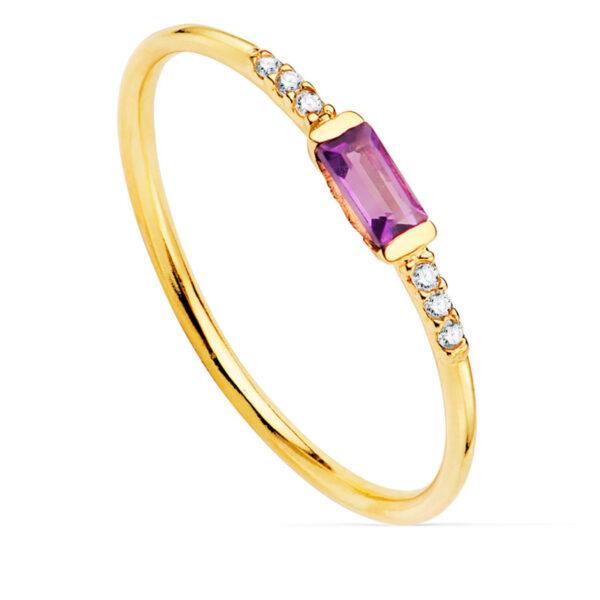 Anillo diamante Carmesí oro de 18 quilates.